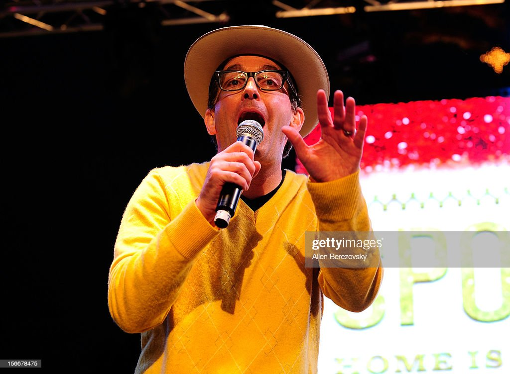 Actor <a gi-track='captionPersonalityLinkClicked' href=/galleries/search?phrase=Tom+Kenny&family=editorial&specificpeople=215463 ng-click='$event.stopPropagation()'>Tom Kenny</a>, the voice of SpongeBob SquarePants, performs during 'Spongebob Holiday Extravapants' very special live concert performance hosted by Nickelodeon at The Grove on November 18, 2012 in Los Angeles, California.