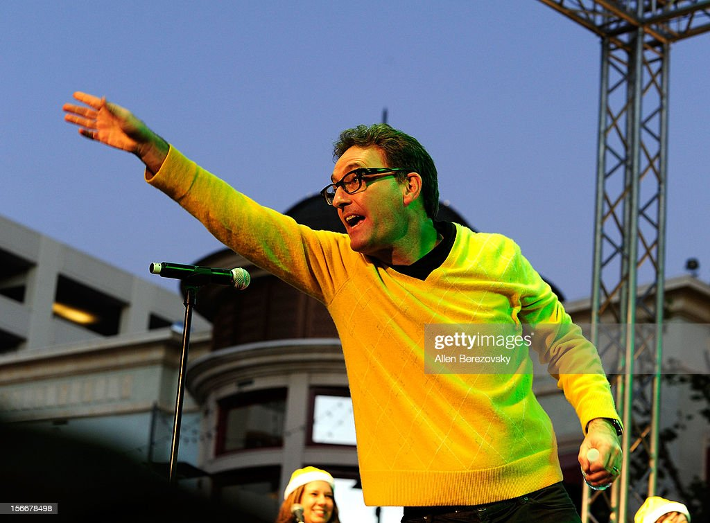 Actor Tom Kenny, the voice of SpongeBob SquarePants, performs during 'Spongebob Holiday Extravapants' very special live concert performance hosted by Nickelodeon at The Grove on November 18, 2012 in Los Angeles, California.