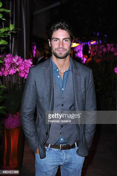 Actor Tom Leeb attends a cocktail reception during the J'aime La Mode event at Hotel Mandarin Oriental on September 28 2015 in Paris France