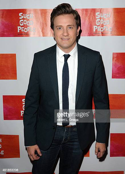 Actor Tom Lenk arrives for the Screening Of 'Such Good People' held at Majestic Crest Theatre on July 7 2014 in Los Angeles California