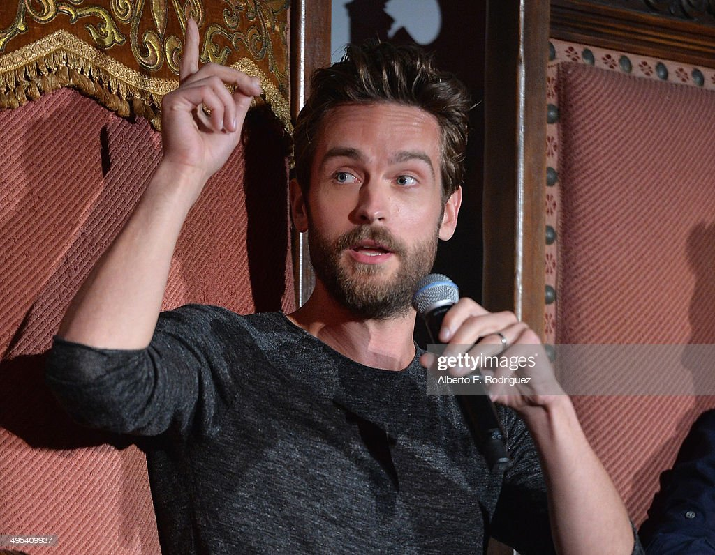 Actor Tom Mison attends a special screening of Fox's 'Sleepy Hollow' at Hollywood Forever on June 2, 2014 in Hollywood, California.