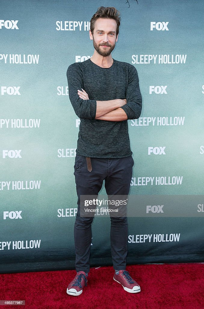 Actor Tom Mison attends Los Angeles special screening and Q&A of FOX's 'Sleepy Hollow' at Hollywood Forever on June 2, 2014 in Hollywood, California.