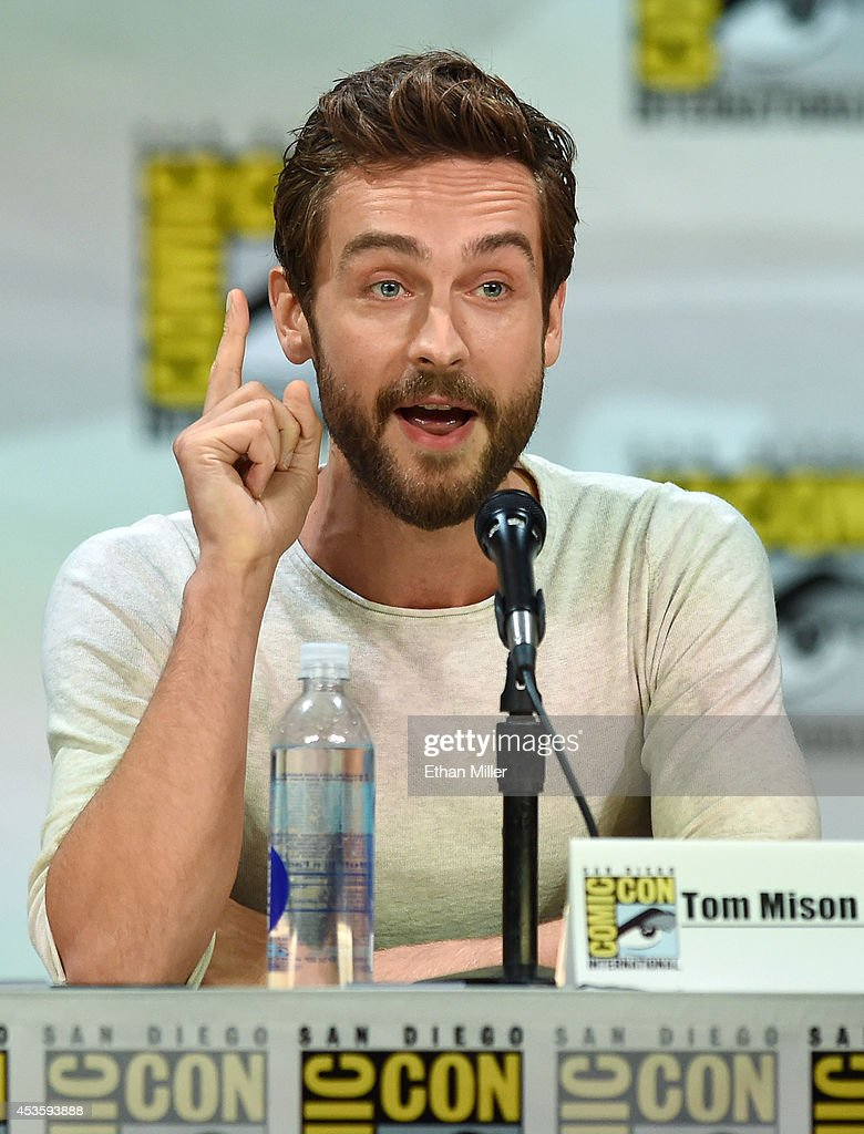 Actor <a gi-track='captionPersonalityLinkClicked' href=/galleries/search?phrase=Tom+Mison&family=editorial&specificpeople=5449904 ng-click='$event.stopPropagation()'>Tom Mison</a> attends the Entertainment Weekly: Brave New Warriors panel during Comic-Con International 2014 at the San Diego Convention Center on July 25, 2014 in San Diego, California.