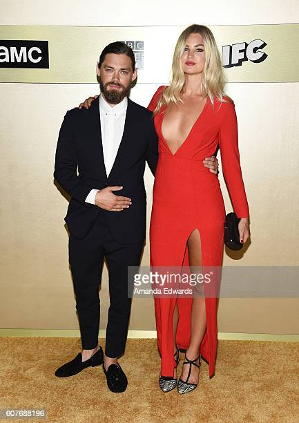 Actor Tom Payne and Jennifer Ackerman arrive at the AMC Networks' 68th Primetime Emmy Awards AfterParty Celebration at BOA Steakhouse on September 18...