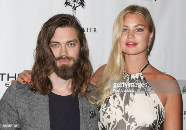 Actor Tom Payne and Model Jennifer Akerman attend the premiere for 'MindGamers One Thousand Minds Connected Live' at Regal LA Live Stadium 14 on...