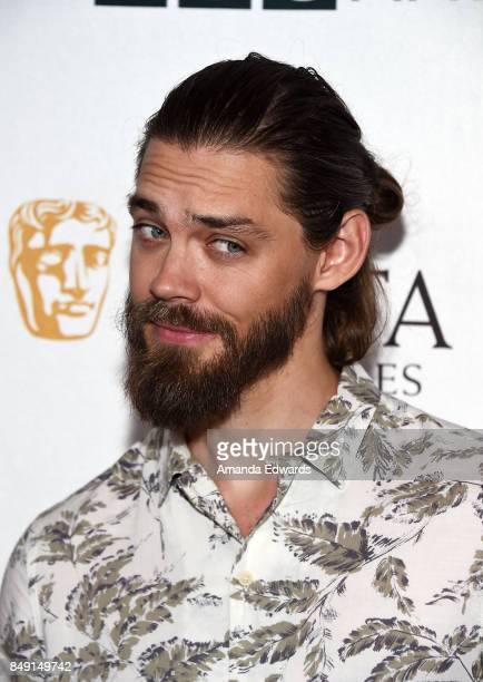Actor Tom Payne arrives at the BBC America BAFTA Los Angeles TV Tea Party 2017 at The Beverly Hilton Hotel on September 16 2017 in Beverly Hills...