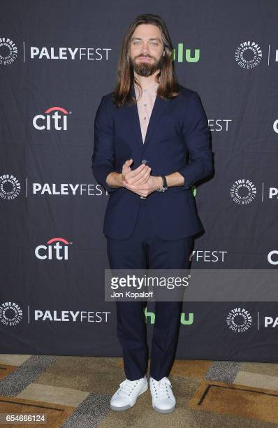 Actor Tom Payne arrives at The Paley Center For Media's 34th Annual PaleyFest Los Angeles Opening Night Presentation 'The Walking Dead' at Dolby...