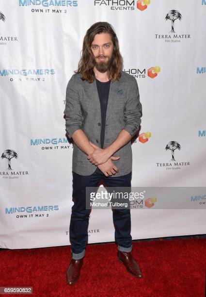 Actor Tom Payne attends Fathom Events and Terra Mater Film Studios' 'Mindgamers One Thousand Minds Connected Live' premiere event at Regal LA Live...