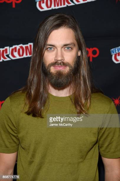Actor Tom Payne attends the Comic Con The Walking Dead panel at The Theater at Madison Square Garden on October 7 2017 in New York City