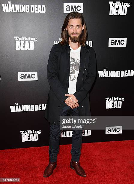 Actor Tom Payne attends the live 90minute special edition of 'Talking Dead' at Hollywood Forever on October 23 2016 in Hollywood California