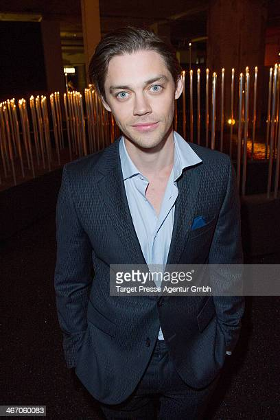 Actor Tom Payne attends the Moet Chandon Grand Scores at Kaufhaus Jandorf on February 5 2014 in Berlin Germany