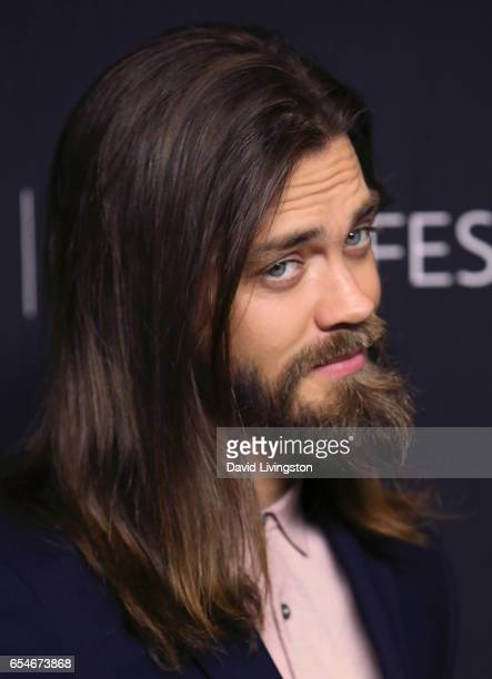 Actor Tom Payne attends The Paley Center for Media's 34th Annual PaleyFest Los Angeles opening night presentation of 'The Walking Dead' at Dolby...