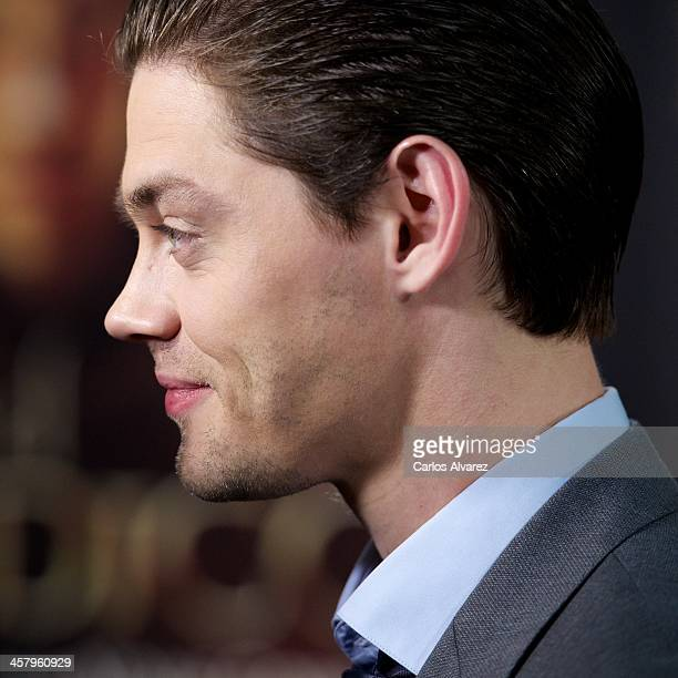 Actor Tom Payne attends the 'The Physician' premiere at the Callao Cinema on December 19 2013 in Madrid Spain