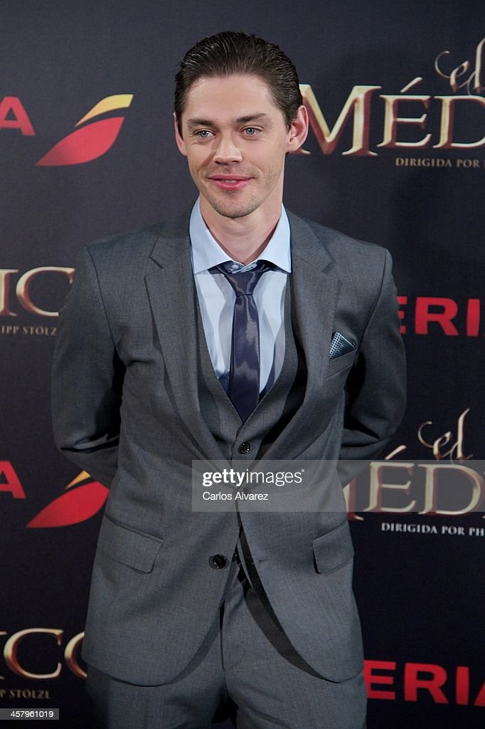 Actor Tom Payne attends the 'The Physician' (El Medico) premiere at the Callao Cinema on December 19, 2013 in Madrid, Spain.
