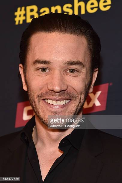 Actor Tom Pelphrey attends the premiere of Cinemax's 'Banshee' 4th Season at UTA on March 31 2016 in Beverly Hills California