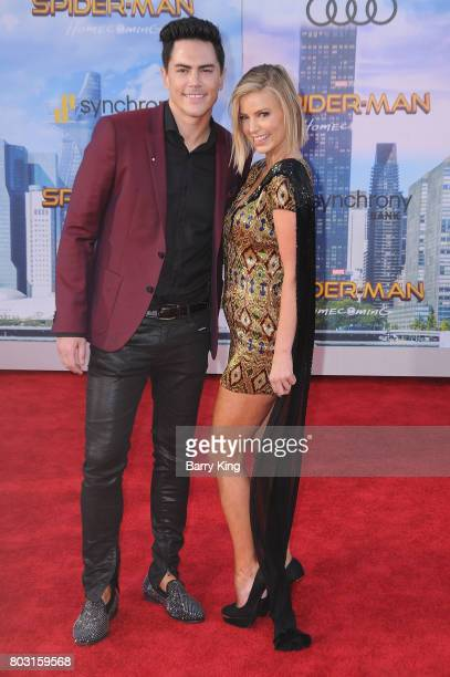 Actor Tom Sandoval and Ariana Madix attend the World Premiere of Columbia Pictures' 'SpiderMan Homecoming' at TCL Chinese Theatre on June 28 2017 in...