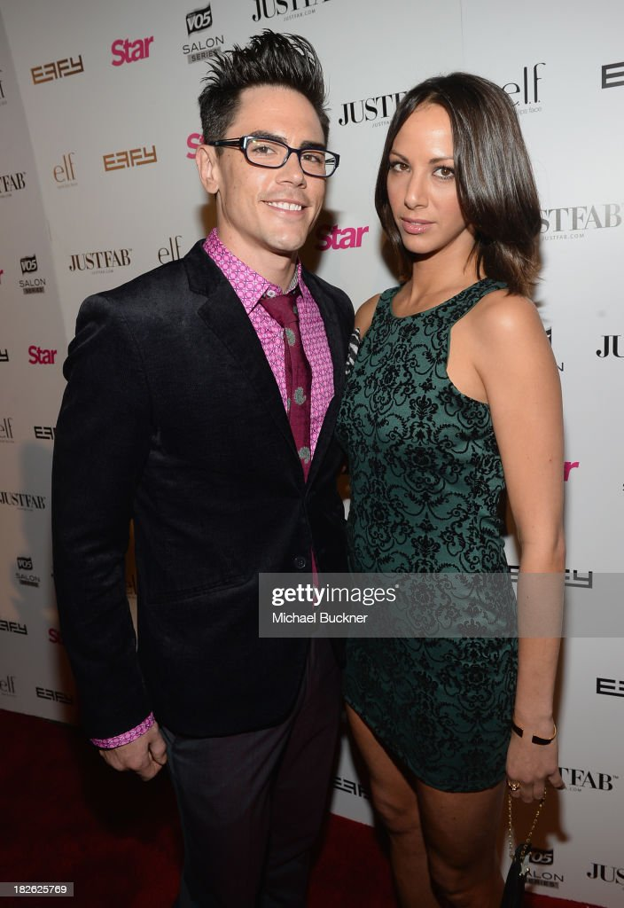 Actor Tom Sandoval and TV personality Kristen Doute attend Star Scene Stealers Event at Tropicana Bar at The Hollywood Rooselvelt Hotel on October 1, 2013 in Hollywood, California.