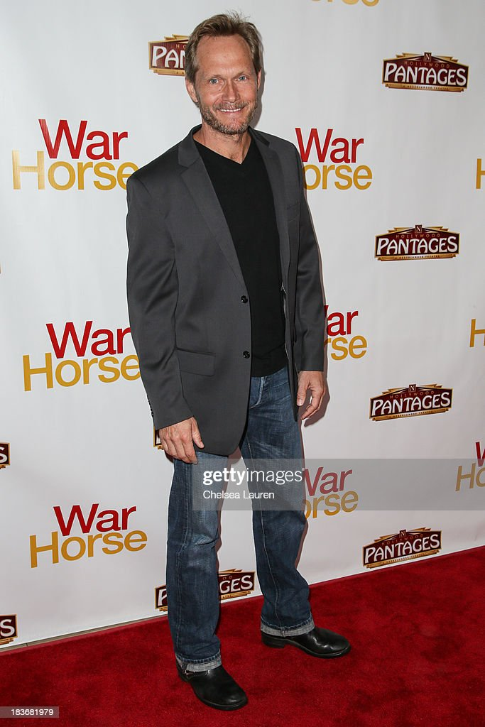 Actor <a gi-track='captionPersonalityLinkClicked' href=/galleries/search?phrase=Tom+Schanley&family=editorial&specificpeople=6491298 ng-click='$event.stopPropagation()'>Tom Schanley</a> attends the 'War Horse' red carpet opening night at the Pantages Theatre on October 8, 2013 in Hollywood, California.
