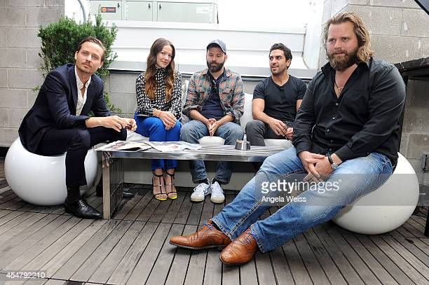 Actor Tom Schilling Actress Hannah Herzsprung Director Baran bo Odar Actor Elyas M'Barek and Actor Antoine Monot Jr attend the German Talent Festival...