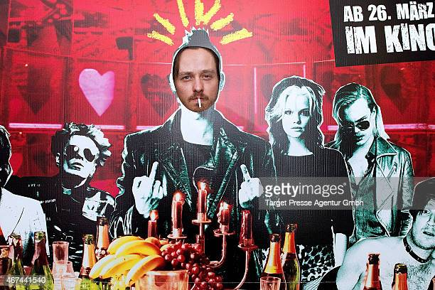 Actor Tom Schilling attends the premiere of the film 'Tod den Hippies Es lebe der Punk' at UCI Kinowelt on March 24 2015 in Berlin Germany