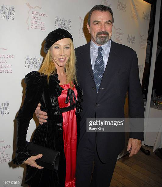 Actor Tom Selleck and wife Jillie Mack attend the Warner Loughlin Studios Holiday Charity Event held at Skybar in the Mondrian on December 9 2008 in...