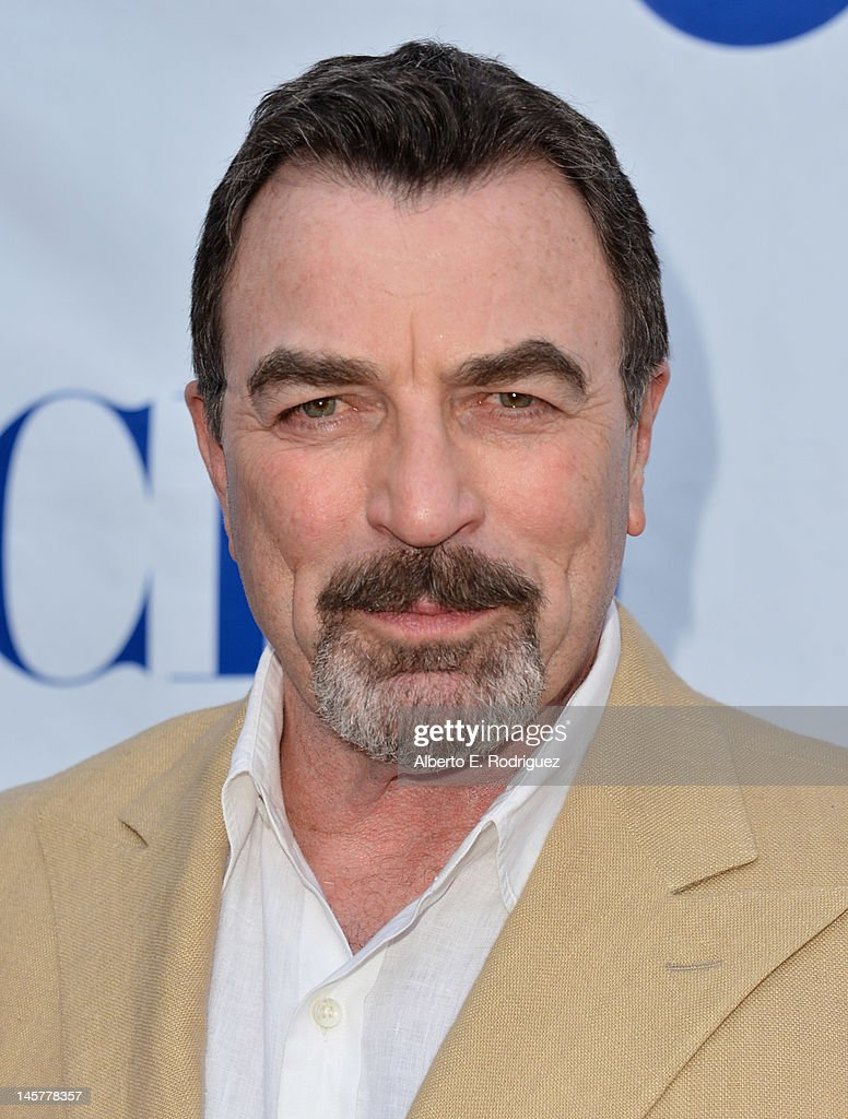 Actor <a gi-track='captionPersonalityLinkClicked' href=/galleries/search?phrase=Tom+Selleck&family=editorial&specificpeople=208627 ng-click='$event.stopPropagation()'>Tom Selleck</a> arrives to a screening and panel discussion of CBS's 'Blue Bloods' at Leonard H. Goldenson Theatre on June 5, 2012 in North Hollywood, California.