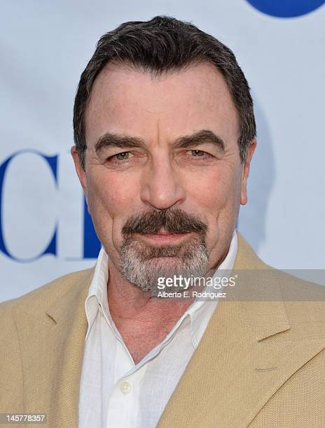 Actor Tom Selleck arrives to a screening and panel discussion of CBS's 'Blue Bloods' at Leonard H Goldenson Theatre on June 5 2012 in North Hollywood...