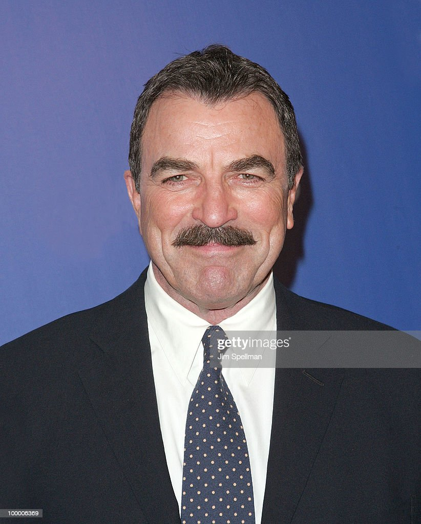 Actor <a gi-track='captionPersonalityLinkClicked' href=/galleries/search?phrase=Tom+Selleck&family=editorial&specificpeople=208627 ng-click='$event.stopPropagation()'>Tom Selleck</a> attends the 2010 CBS Upfront at The Tent at Lincoln Center on May 19, 2010 in New York City.