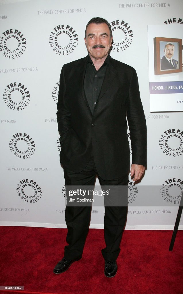 Actor <a gi-track='captionPersonalityLinkClicked' href=/galleries/search?phrase=Tom+Selleck&family=editorial&specificpeople=208627 ng-click='$event.stopPropagation()'>Tom Selleck</a> attends the 'Blue Bloods' screening at The Paley Center for Media on September 22, 2010 in New York City.