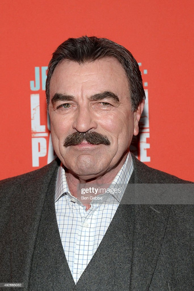 Actor <a gi-track='captionPersonalityLinkClicked' href=/galleries/search?phrase=Tom+Selleck&family=editorial&specificpeople=208627 ng-click='$event.stopPropagation()'>Tom Selleck</a> attends the 'Jess Stone: Lost In Paradise' New York Premiere at Roxy Hotel on October 14, 2015 in New York City.
