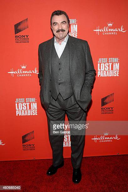 Actor Tom Selleck attends the 'Jess Stone Lost In Paradise' New York Premiere at Roxy Hotel on October 14 2015 in New York City