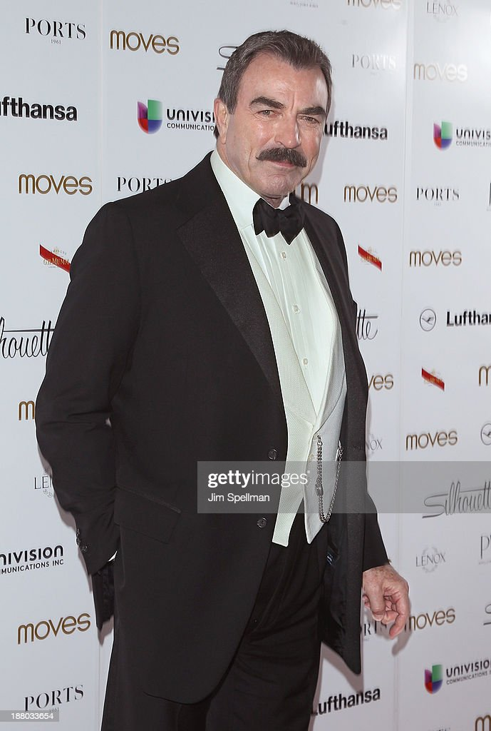 Actor <a gi-track='captionPersonalityLinkClicked' href=/galleries/search?phrase=Tom+Selleck&family=editorial&specificpeople=208627 ng-click='$event.stopPropagation()'>Tom Selleck</a> attends the New York Moves Magazine's 10th Anniversary Power Women Gala at the Grand Hyatt New York on November 14, 2013 in New York City.