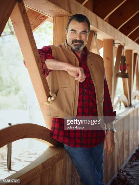 Actor Tom Selleck is photographed for AARP Magazine on June 1 2015 in Thousand Oaks California