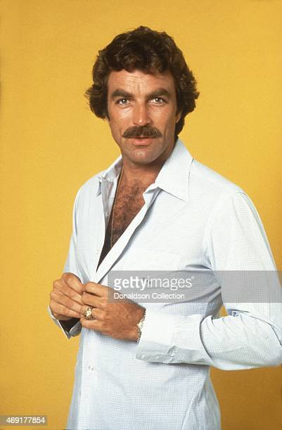 Actor Tom Selleck poses for a portrait in 1980 in Los Angeles California