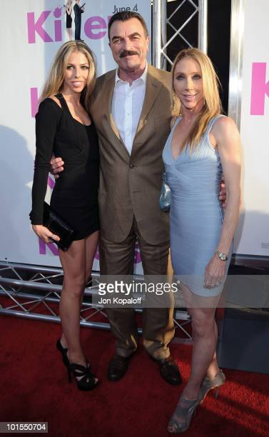 Actor Tom Selleck wife Jillie Mack and daughter Hannah Selleck arrive at the Los Angeles Premiere 'Killers' at the ArcLight Cinemas Cinerama Dome on...