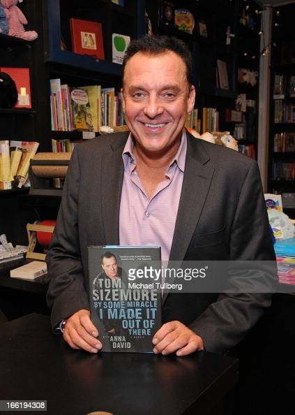 Actor Tom Sizemore attends a book signing for his new book 'By Some Miracle I Made It Out Of There' at Book Soup on April 9 2013 in West Hollywood...