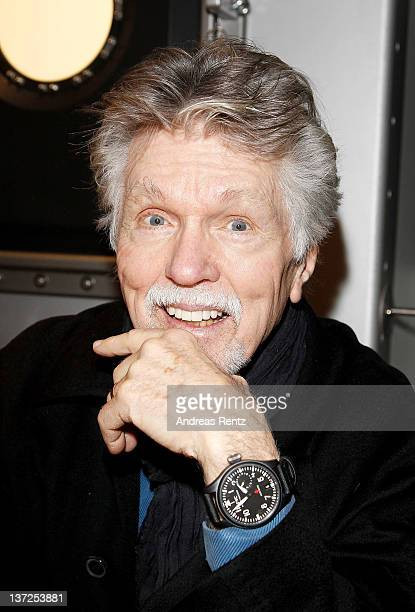 Actor Tom Skerritt visits the IWC Schaffhausen booth during the 22nd SIHH High Jewellery Fair at the Palexpo Exhibition Hall on January 17 2012 in...