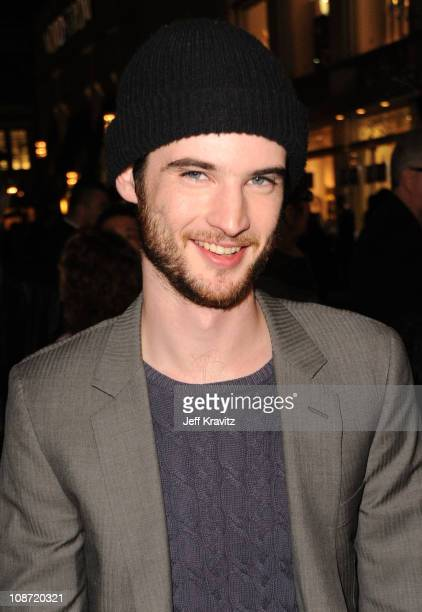 Actor Tom Sturridge arrives at the Los Angeles premiere of 'Waiting for Forever' held at Pacific Theaters at the Grove on February 1 2011 in Los...