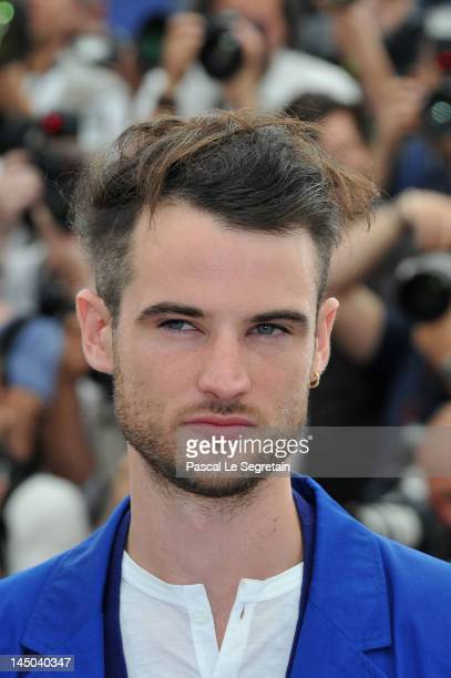 Actor Tom Sturridge attends the 'On The Road' Photocall during the 65th Annual Cannes Film Festival at Palais des Festivals on May 23 2012 in Cannes...