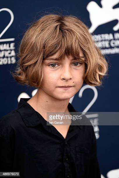 Actor Tom Sweet attends a photocall for 'The Childhood Of A Leader' during the 72nd Venice Film Festival at Palazzo del Casino on September 5 2015 in...