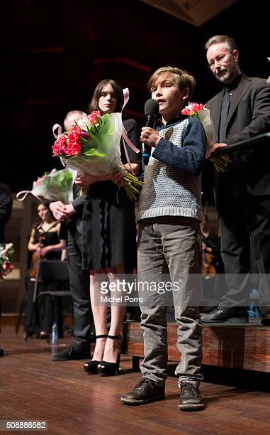 Actor Tom Sweet attends the Dutch premiere and the closing film 'The Childhood Of A Leader' at the International Rotterdam Film Festival on February...