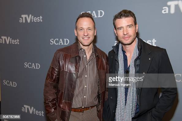 Actor Tom Verica and actor Scott Foley attends 'Behind the Lens ShondaLand' event during SCAD aTVfest 2016 Day 3 at the Four Seasons Hotel on...