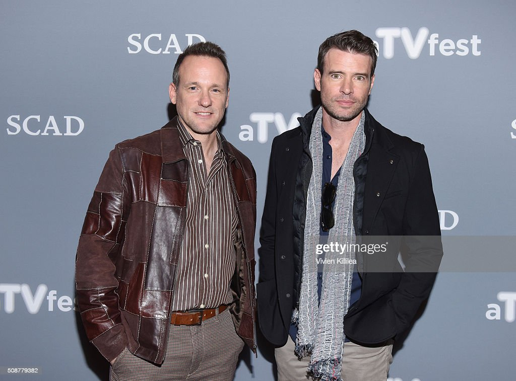 Actor Tom Verica and Actor <a gi-track='captionPersonalityLinkClicked' href=/galleries/search?phrase=Scott+Foley&family=editorial&specificpeople=615795 ng-click='$event.stopPropagation()'>Scott Foley</a> attends 'Behind The Lens: ShondaLand' panel during aTVfest 2016 presented by SCAD on February 6, 2016 in Atlanta, Georgia.