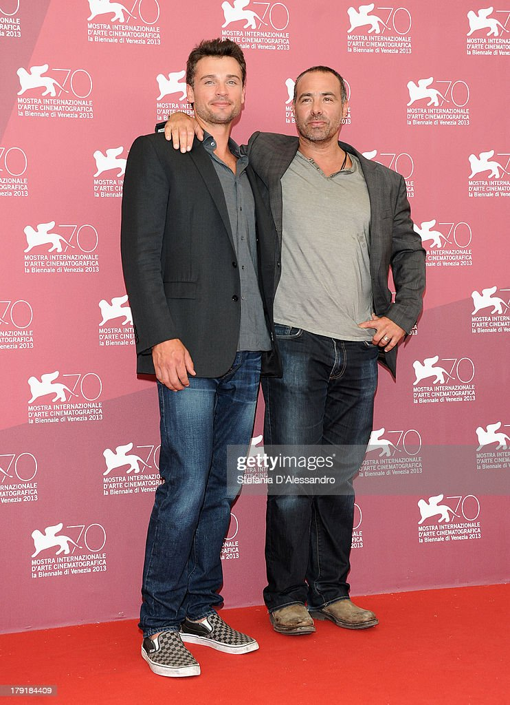 Actor <a gi-track='captionPersonalityLinkClicked' href=/galleries/search?phrase=Tom+Welling&family=editorial&specificpeople=631434 ng-click='$event.stopPropagation()'>Tom Welling</a> and Director Peter Landesman attend 'Parkland' Photocall during the 70th Venice International Film Festival at Palazzo del Casino on September 1, 2013 in Venice, Italy.