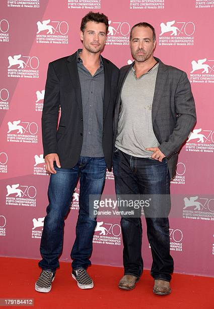 Actor Tom Welling and Director Peter Landesman attend 'Parkland' Photocall during the 70th Venice International Film Festival at Palazzo del Casino...