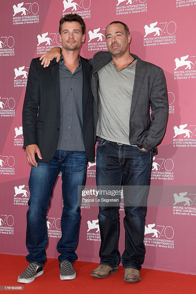 Actor Tom Welling and director Peter Landesman attend the 'Parkland' photocall during the 70th Venice International Film Festival at the Palazzo del Casino on September 1, 2013 in Venice, Italy.