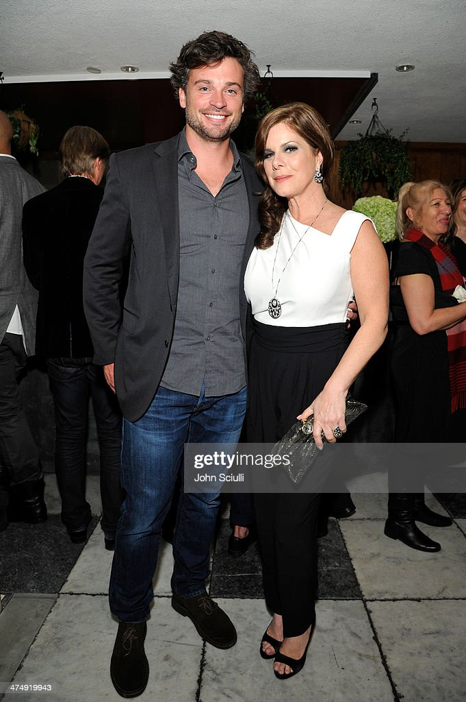 Actor Tom Welling and Marcia Gay Harden attend 'Decades of Glamour' presented by BVLGARI on February 25, 2014 in West Hollywood, California.