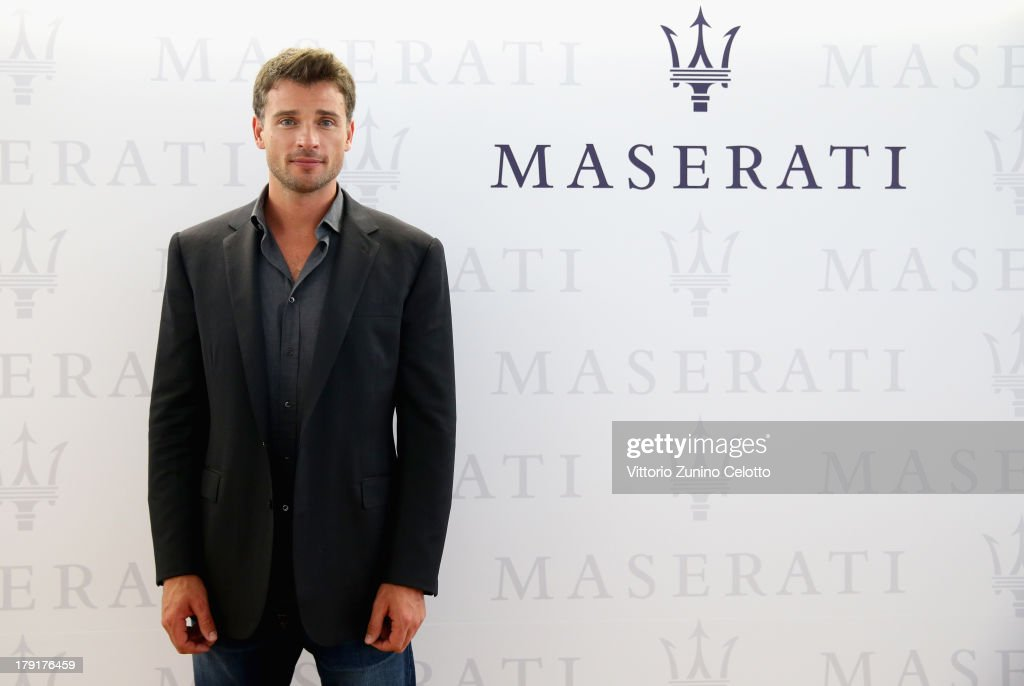 Actor <a gi-track='captionPersonalityLinkClicked' href=/galleries/search?phrase=Tom+Welling&family=editorial&specificpeople=631434 ng-click='$event.stopPropagation()'>Tom Welling</a> attends the 70th Venice International Film Festival at Terrazza Maserati on August 31, 2013 in Venice, Italy.