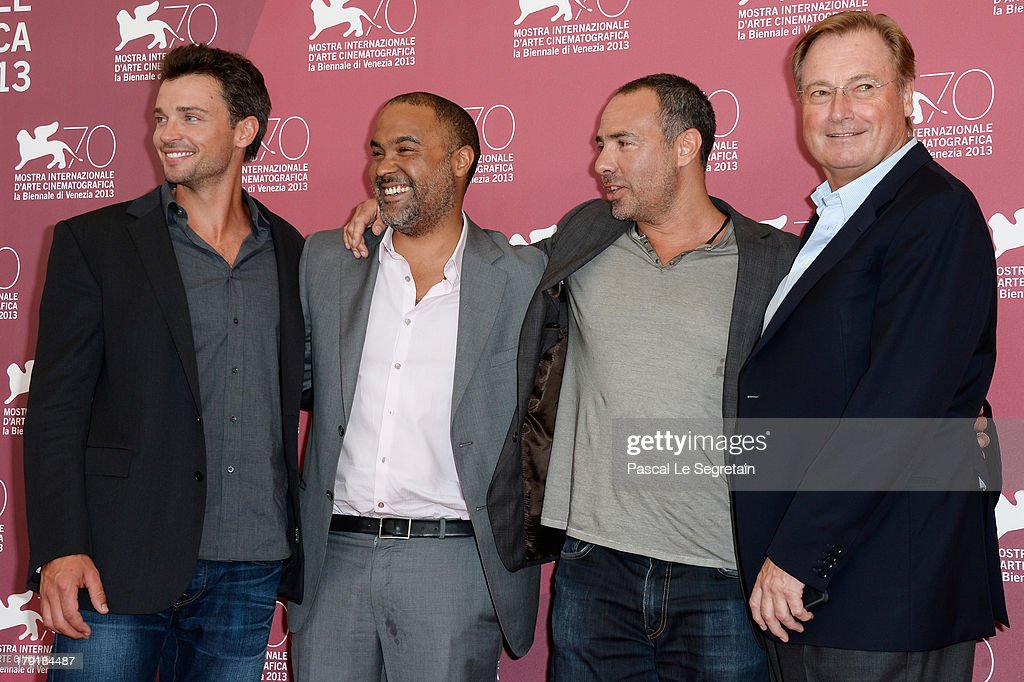 Actor <a gi-track='captionPersonalityLinkClicked' href=/galleries/search?phrase=Tom+Welling&family=editorial&specificpeople=631434 ng-click='$event.stopPropagation()'>Tom Welling</a>, producer <a gi-track='captionPersonalityLinkClicked' href=/galleries/search?phrase=Matt+Jackson+-+Producer&family=editorial&specificpeople=15195809 ng-click='$event.stopPropagation()'>Matt Jackson</a>, director Peter Landesman and producer Guy East attend the 'Parkland' photocall during the 70th Venice International Film Festival at the Palazzo del Casino on September 1, 2013 in Venice, Italy.