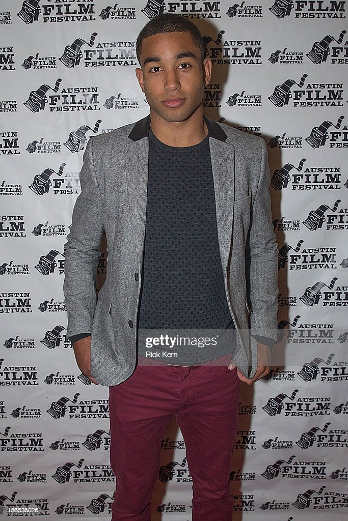 Actor Tom Williamson arrives at the premiere of 'All Cheerleaders Die' during the Austin Film Festival at The Paramount Theatre on October 31, 2013 in Austin, Texas.